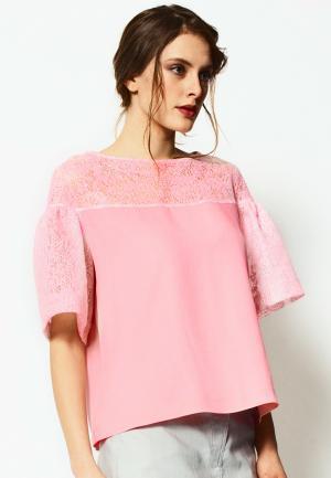 Блуза LO. Цвет: розовый