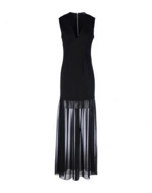 Длинное платье AXARA PARIS. Цвет: черный