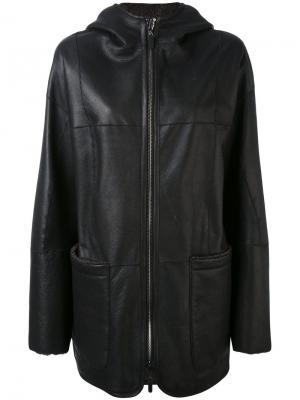 Пальто свободного кроя Iris Von Arnim. Цвет: чёрный