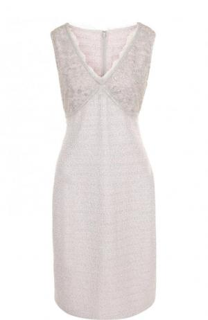 Приталенное платье-миди с V-образным вырезом St. John. Цвет: серый