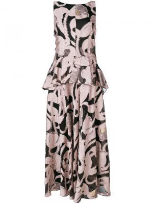 Платье Lovato Talbot Runhof. Цвет: розовый и фиолетовый