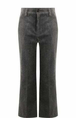 Расклешенные вельветовые брюки с карманами Marc Jacobs. Цвет: серый