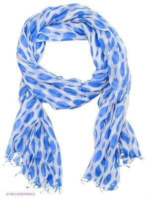 Палантин Michel Katana. Цвет: синий, молочный