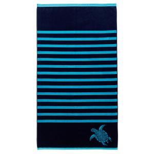Полотенце пляжное Bahia La Redoute Interieurs. Цвет: синий