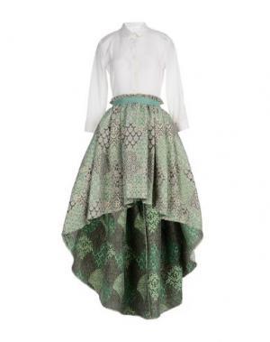 Длинное платье CHRISTIAN PELLIZZARI. Цвет: белый