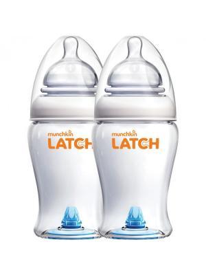 Бутылочка для кормления 240 мл. 2 шт. 0+/12 MUNCHKIN. Цвет: белый