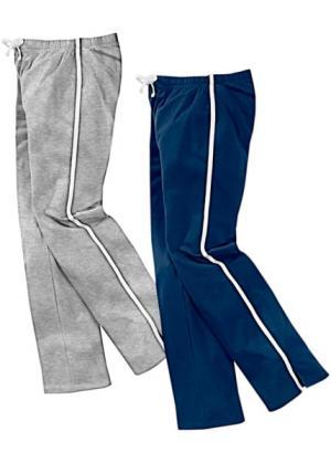 Спортивные брюки (2 шт.) (темно-синий/серый меланж) bonprix. Цвет: темно-синий/серый меланж