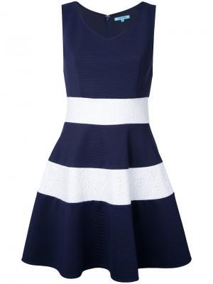 Расклешенное платье с полосками Guild Prime. Цвет: синий