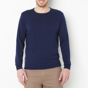 Пуловер с круглым вырезом, из тонкого трикотажа CASTALUNA FOR MEN. Цвет: бордовый меланж