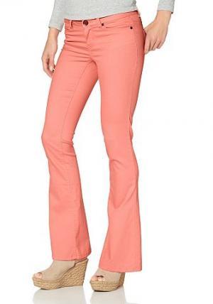 , брюки «клёш» из очень эластичного материала AJC. Цвет: абрикосовый