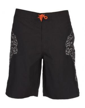 Пляжные брюки и шорты IUTER. Цвет: черный