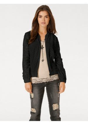 Блузка LINEA TESINI by Heine. Цвет: кремовый, черный
