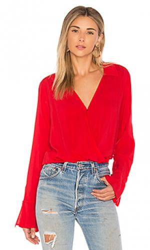 Блузка с длинным рукавом justina Velvet by Graham & Spencer. Цвет: красный
