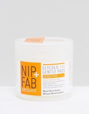 Nip+Fab Отшелушивающие ватные диски Glycolic Fix Gentle Sensitive. Цвет: бесцветный