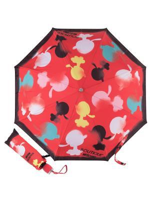 Зонт складной Moschino 7122-OCC Olivia Spray Red. Цвет: синий, бирюзовый, розовый