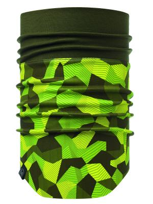Снуд WINDPROOF NECKWARMER BLOCK CAMO GREEN Buff. Цвет: желтый, хаки