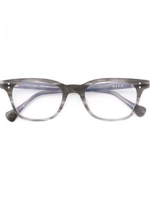 Оптические очки в овальной оправе Dita Eyewear. Цвет: серый