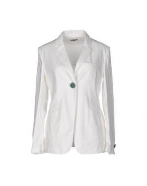 Пиджак MALÌPARMI. Цвет: белый