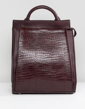 Liquorish Рюкзак из искусственной крокодиловой кожи. Цвет: красный