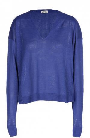 Пуловер свободного кроя с фактурной отделкой Acne Studios. Цвет: синий