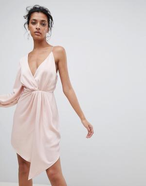 C/meo Collective Асимметричное платье. Цвет: розовый