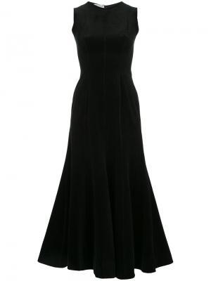 Платье длины миди с расклешенной юбкой N Duo. Цвет: чёрный