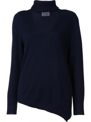Трикотажная блузка с V-образным вырезом Les Animaux. Цвет: синий