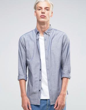Troy Оксфордская рубашка. Цвет: темно-синий