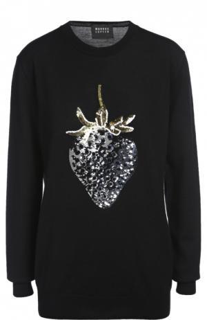 Вязаный свитер Markus Lupfer. Цвет: черный