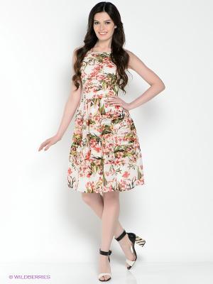 Платье ZARINA. Цвет: молочный, розовый