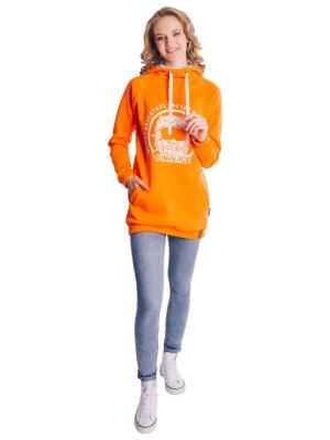 Худи FUNKY RIDE. Цвет: оранжевый