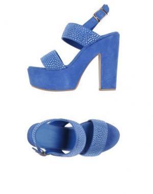 Сандалии FIORINA. Цвет: синий