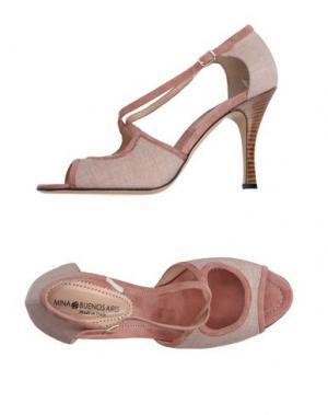 Сандалии MINA BUENOS AIRES. Цвет: пастельно-розовый