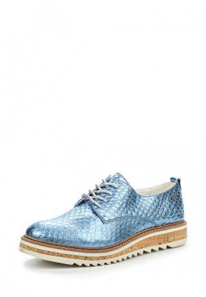 Ботинки Bugatti. Цвет: голубой