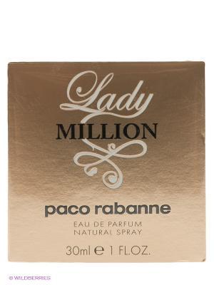 Парфюмерная вода Lady Million, 30мл. PACO RABANNE. Цвет: прозрачный