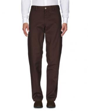 Повседневные брюки DICKIES. Цвет: темно-коричневый