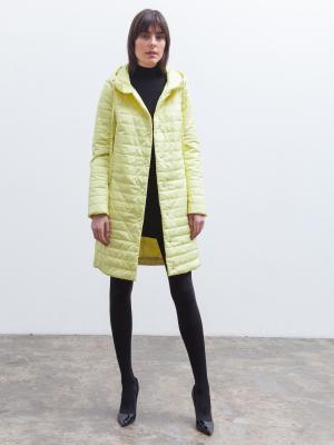 Пальто Clasna. Цвет: желтый