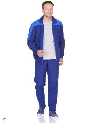 Костюм спортивный  Evostripe Woven Suit op PUMA. Цвет: синий, голубой