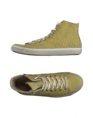 Высокие кеды и кроссовки LEATHER CROWN. Цвет: желтый