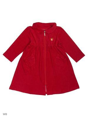 Махровый халат для девочек SOFT SECRET. Цвет: красный