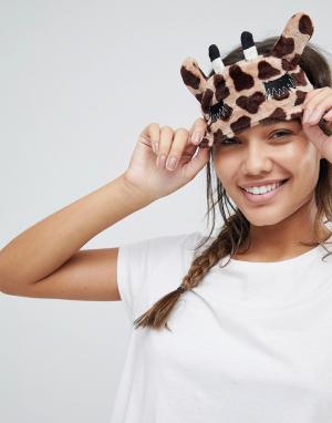 Boux Avenue Маска для глаз с принтом жирафа Gini. Цвет: коричневый