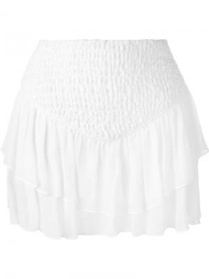 Многослойная юбка Jay Ahr. Цвет: белый