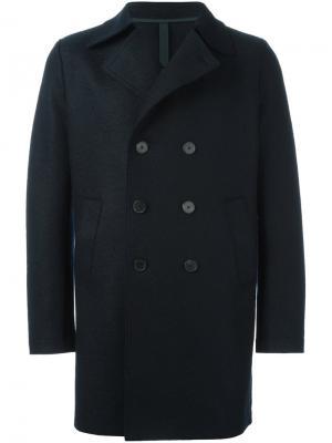 Классическое двубортное пальто Harris Wharf London. Цвет: синий