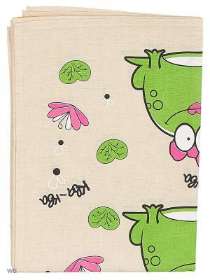 Полотенца Лягушка царевна, 2 шт., с петелькой GrandStyle. Цвет: зеленый, серый