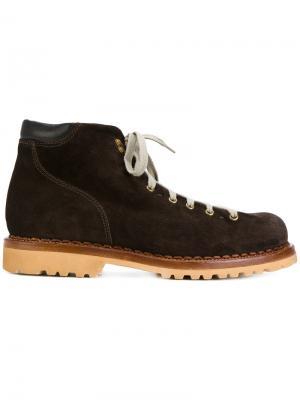 Ботинки на шнуровке Buttero. Цвет: коричневый