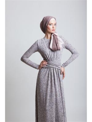 Платье макси трикотажное с декоративным поясом Bella kareema