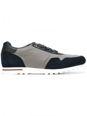 Кроссовки с панельным дизайном Loro Piana. Цвет: многоцветный