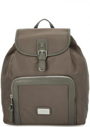 Серый текстильный рюкзак с одним отделом Picard. Цвет: серый