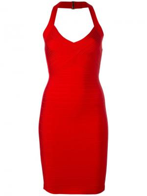 Платье Adrienne Hervé Léger. Цвет: красный