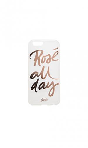 Чехол на iphone 6 rose all day Sonix. Цвет: металлический серебряный